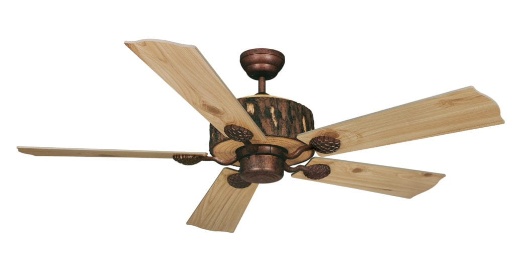 Log Cabin 52 In Ceiling Fan Weathered Patina Vaxcel