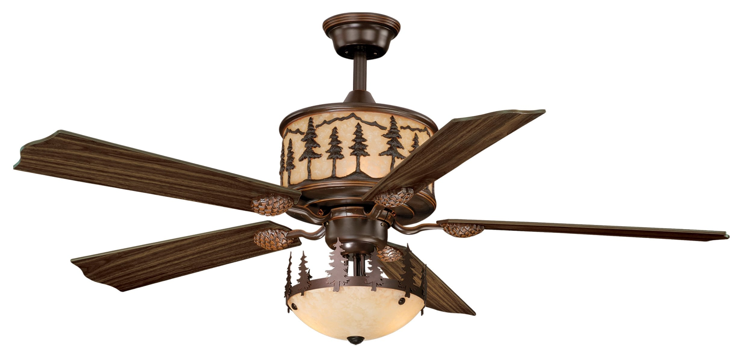 Yosemite 56 Quot Ceiling Fan Burnished Bronze Vaxcel