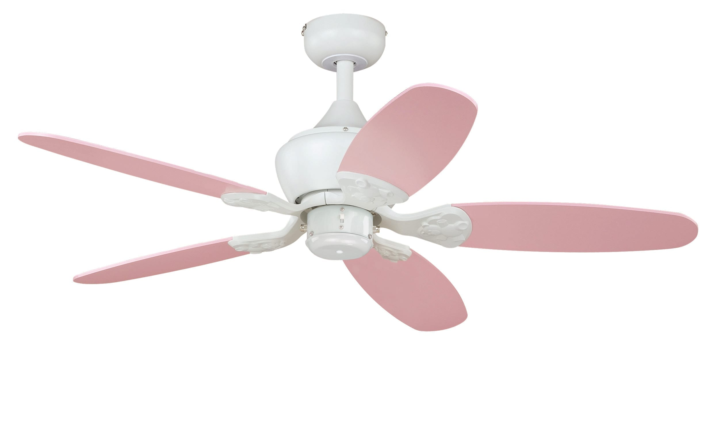 Alex 44 Quot Ceiling Fan White Pink Polka Dots Pink Blades