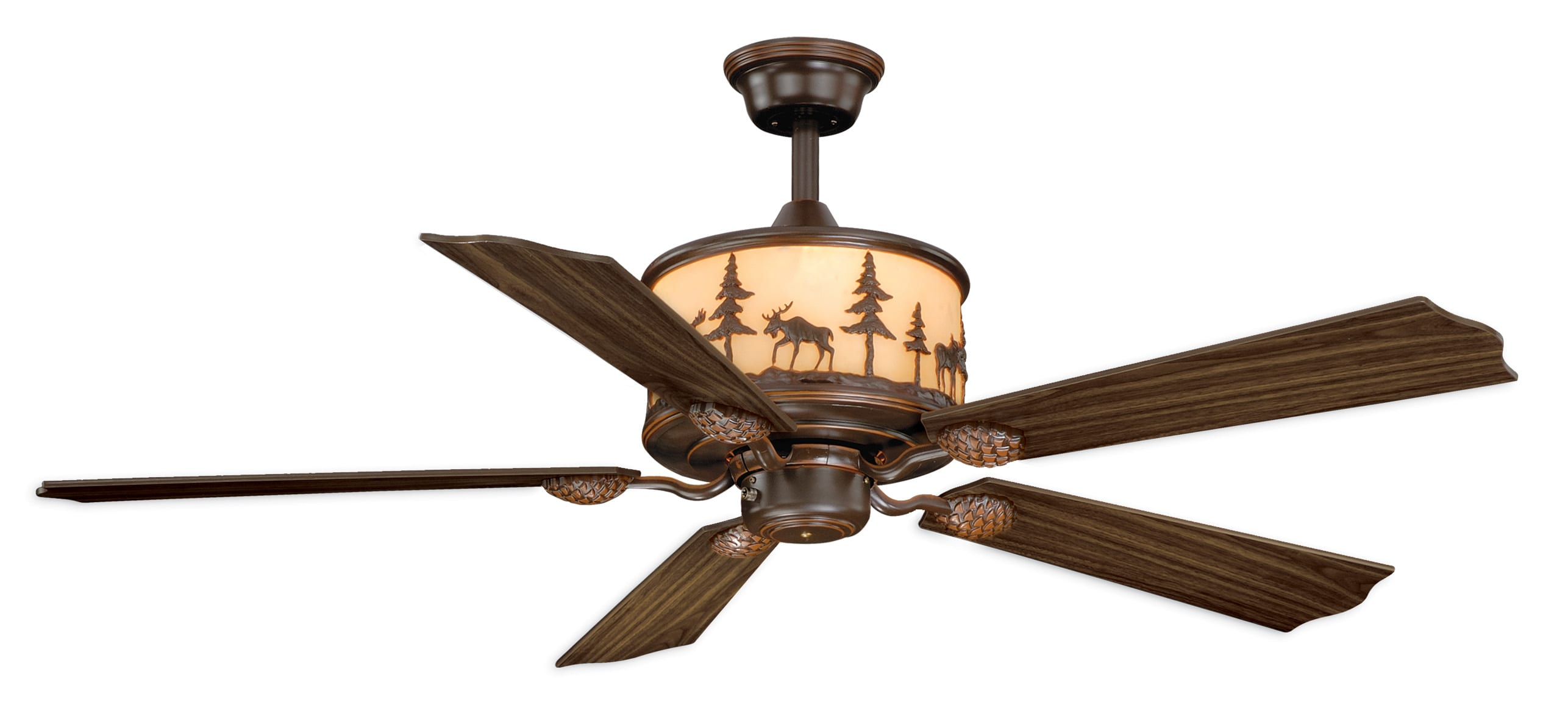 rustic wood ceiling fans style cape cod yellowstone 56