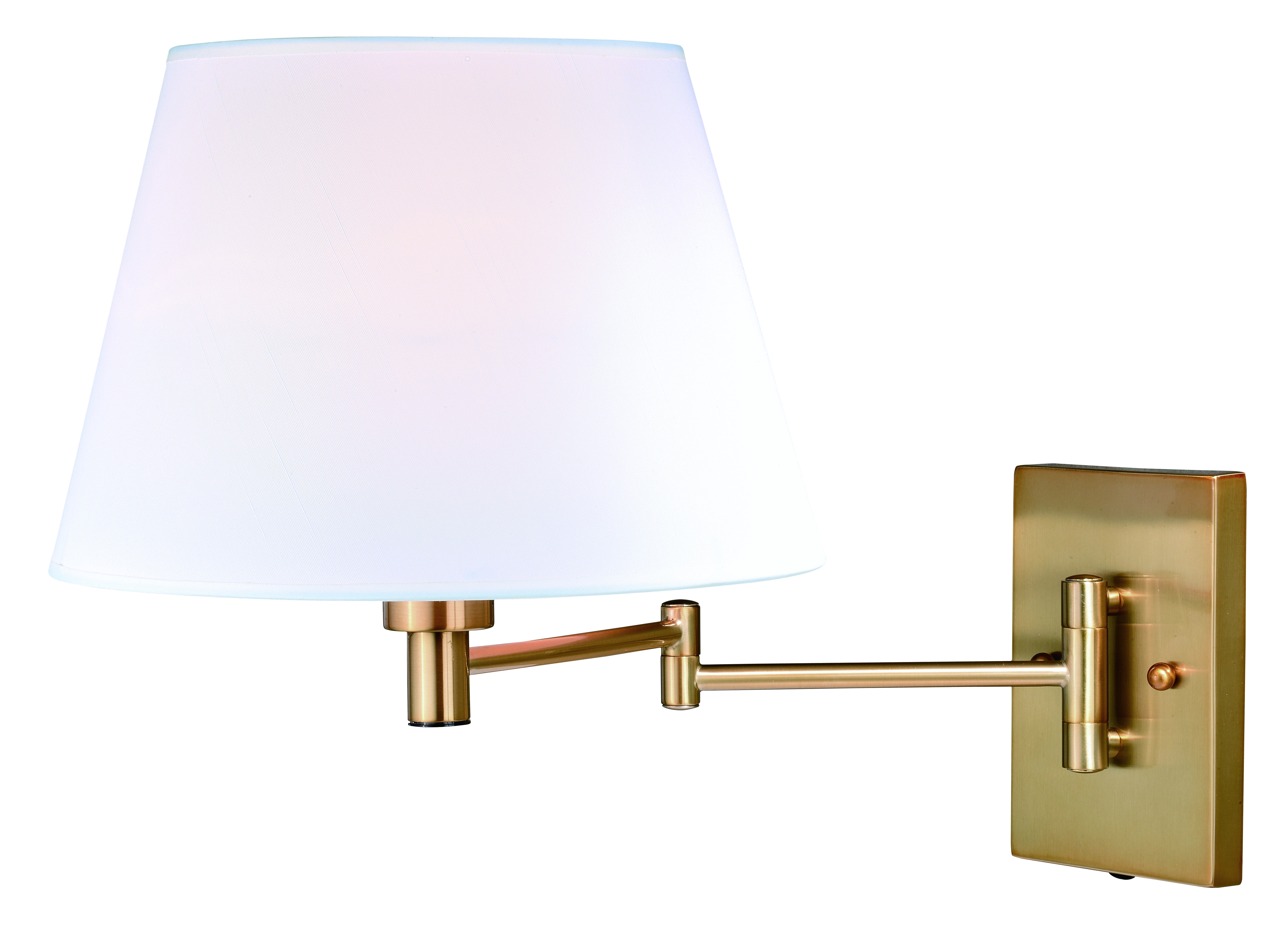 Chapeau Instalux 174 Swing Arm Wall Light Natural Brass Vaxcel
