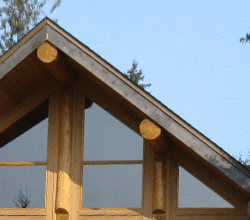 Wood beam framing